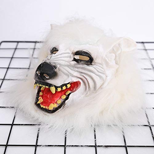 Tuscom Wolf Mask Animal Masquerade Halloween Costume Cosplay Party mask Cosplay Costume Party(2style 28 x 26cm) -