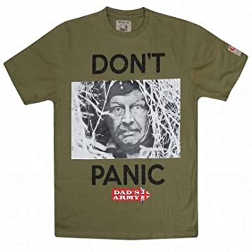 e33d1ad2 Dad's Army Corporal Jones Don't Panic T-Shirt: Amazon.co.uk: Sports ...