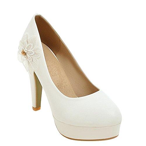Carolbar Scarpe Da Donna Con Tacco Alto Da Sposa Scarpe Tacco Alto Bianco