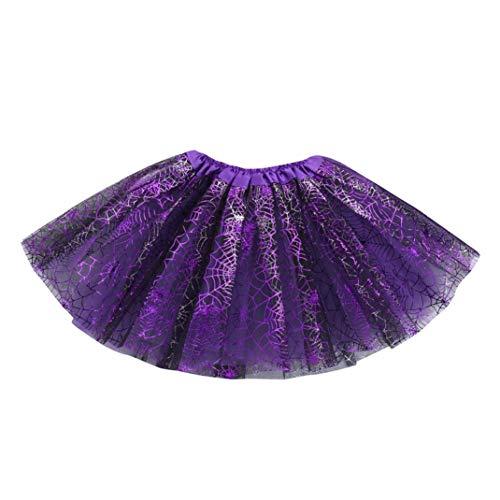 - Baby Girls Halloween Tutu, Witspace Kids Fancy Party Skirt Halloween Costume (D Purple Spider Web)