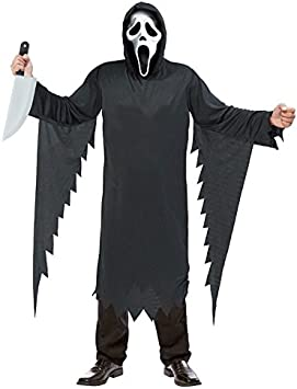 Partilandia Disfraz Asesino Scream para Hombre (L): Amazon.es ...