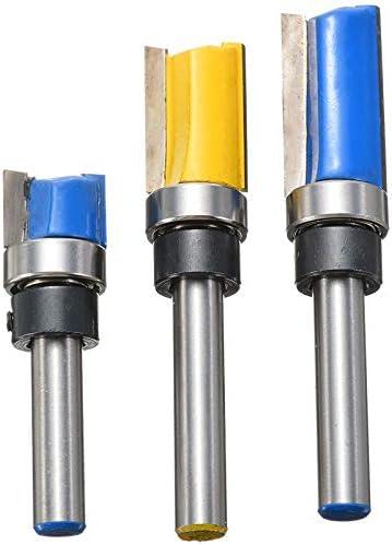 NO LOGO ZZB-ZT, 3Pcs Flush Trim Fräser Holz Holzverarbeitung Shank Oben unten Bearing Fräser Fräsen Fräser Flush Trimmbit (Color : As Show)