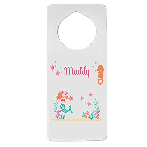 (Personalized Nursery Door Hanger with Mermaid Princess design)