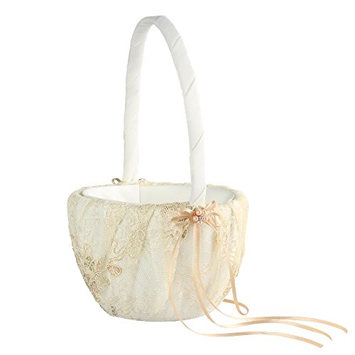 Florence Wedding Collection, Flower Girl Basket, Ivory by Ivy Lane Design