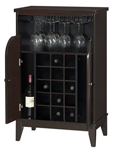 Dark Brown Baxton Studio - Baxton Studio Easton Modern and Contemporary Wood Dry Bar and Wine Cabinet, Dark Brown