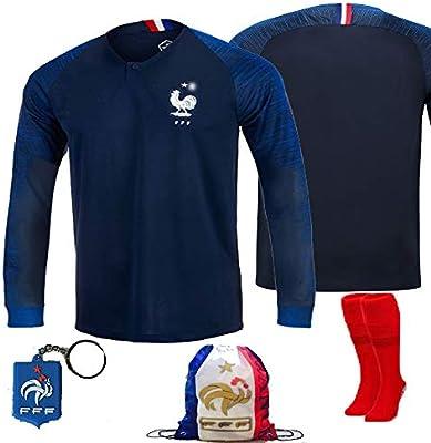 brand new 5b70b b9c68 France Soccer Team Pogba Griezmann Mbappe Kid Youth Replica ...