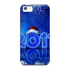Slim Fit Tpu Protector Shock Absorbent Bumper 2011 Christmas New Year Case For Iphone 5c