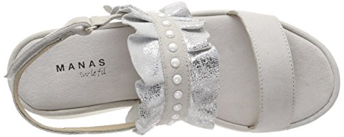Bride Sandales bianco Femme Cheville Blanc Manas Itaca 013 E5xqwYP