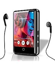MP3-speler, Bluetooth 5.0, HiFi verliesloze MP3-speler, 2,4 inch LCD-touchscreen, muziekspeler met luidspreker, video, FM e-book opname, ondersteunt 128 G SD (hoofdtelefoon + USB + Duitse handleiding)