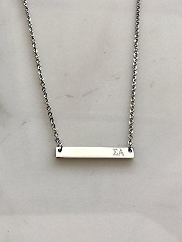 - Sigma Alpha Sorority Necklace Greek Life Bid Night Gift Big Little Beta Gamma Alpha Delta Sigma