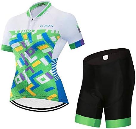女性の夏のサイクリングショートパンツ半袖トップサイクリングサイクリングセット