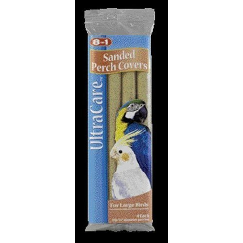 "8 in 1 Ecotrition Perch Covers for Cockatiels Parakeets Finches, Large, 3/4"" Diameter - 4 Count"
