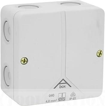 PVC moldeada caja IP65 80 x 50 mm: Amazon.es: Bricolaje y herramientas