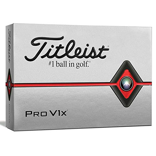 (Titleist Pro V1x Golf Balls, White, Standard Play Numbers (1-4), One)