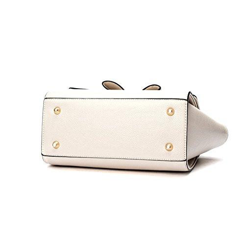 Miyoopark - Bolso estilo cartera de Material Sintético para mujer beige