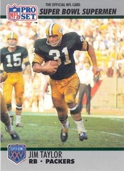 Jim Taylor football card (Green Bay Packers) 1990 Pro Set #132 Super Bowl Supermen ()
