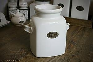 Country Kitchen Ceramic Utensil Holder