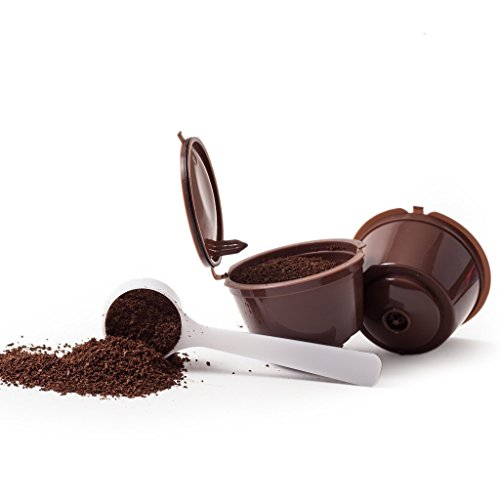 6 CAPSULES POUR CAFÉ RÉUTILISABLE REFILLABLE RECARGABLES DOLCE GUSTO + 1 cuillerée à café