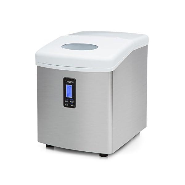Klarstein Mr. Silver-Frost - Macchina per Cubetti di Ghiaccio, 15 kg/24 h, 150 Watt, 3 Dimensioni Cubetti, Preparazione… 6 spesavip