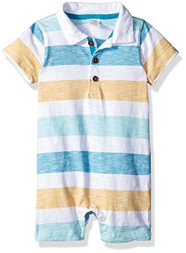 - Gymboree Baby Boys 1-Piece Polo Bodysuit, Pool Blue Stripe, 6-12 mo