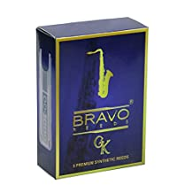 Bravo BR-TS25 Synthetic Reeds for Tenor Saxophone, Strength 2.5 (Box of 5)