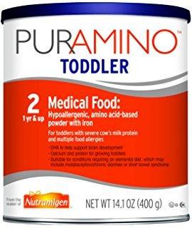 PurAmino Hypoallergenic Amino Acid Based Toddler Formula ...