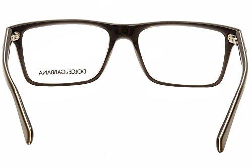 Dolce & Gabbana Montures de lunettes 3207 Pour Homme Black On Grey, 53mm 1871: Black On Grey