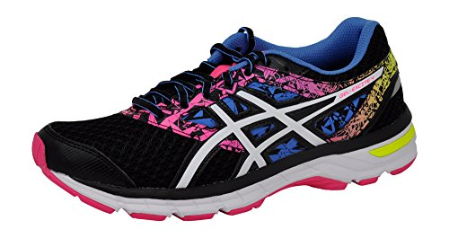 ASICS Women's Gel-Excite 4 Running Shoe, Shark/Flash Coral/Parachute Purple, 8.5 M US -