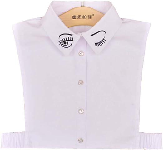 Black Temptation Falso Cuello Desmontable Mitad Camisas Falsa Cuello para niñas y Mujeres, A12: Amazon.es: Deportes y aire libre