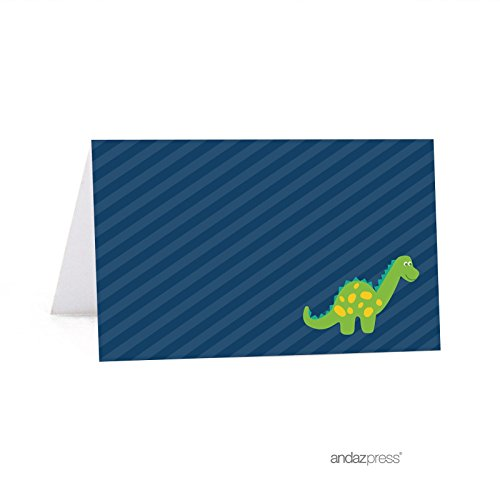 Andaz Press Birthday Printable Table Tent Place Cards, Dinosaur, 24-Pack, For Dessert Table Candy Buffet Stations - Buffet Printable