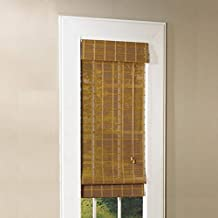 Lewis Hyman Bamboo Roman Shade with Valance, 34-Inch Wide by 72-Inch Long, Natural Monterrey, 0213120E