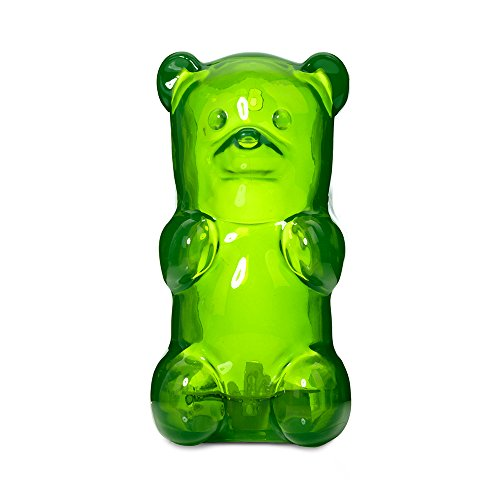 Gummygoods Squeezable Gummy Bear Night Light, Portable with 60 Minute Sleep Timer, - Rubber Clock Green