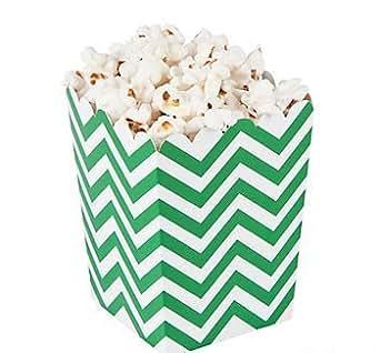 Amazon.com: Cool Fun 13668114 Green Chevron Popcorn Boxes - 24 Pieces: Industrial & Scientific