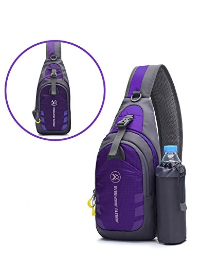 nylon Ride pack movement Run Soft Shoulder rock cloth Messenger Purple on Bags pack Cover Chest backpack Chest foot climbing bag R05wEx