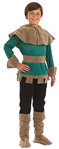 Boys Robin Hood Medieval Hero Villain Book Day Historical TV Film Character Fancy Dress Costume Outfit (10-12 Years) Green ()