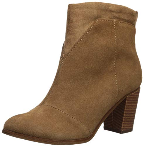 TOMS Women's Lunata Mid Calf Boot Toffee Suede/Microfiber Mix 8 Medium US (Boots Calf Leather Mid)