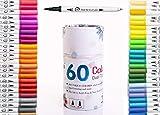 Dual Tip Brush Marker Pens-60 Colors Dual Brush Pens Set Art Brush Markers