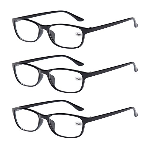 Bifocal Reading Glasses +3.00 Mens Womens Everyday Use Readers Eyewear Black Classic Office Home Eyeglasses