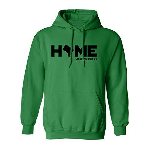 Washington DC Home Adult Hooded Sweatshirt in Kelly Green - XXXX-Large