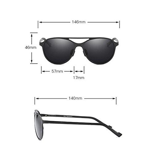 magnesio sol aire libre Lentes UV y de sol de de Hombres gafas al Gafas UV anti fish black conducción de aluminio polarizadas protección 400 qx0nFwHIU