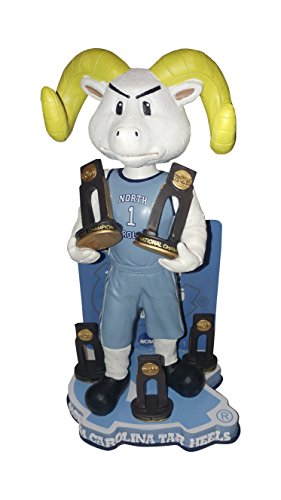 University of North Carolina Tar Heels Multiple Men's College Basketball National Championships Bobblehead Bobble head - Individually Numbered to Only 216 - UNC by Forever Collectibles