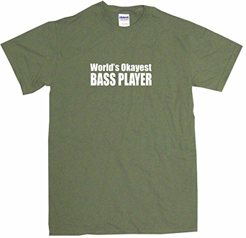Price comparison product image World's Okayest Bass Player Big Boy's Kids Tee Shirt Youth XL-Olive
