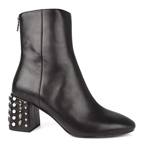 Ash Boot Footwear Studded Heeled Black Black Leather Hyde rzrPnCwgqF
