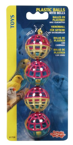 Living World 4 Plastic Balls with Bells ()