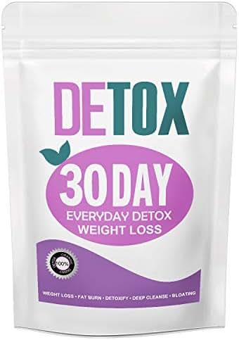 DETOX Weight Loss Tea, Gentle Detox Tea, 30 Day Skinny Tea Herbal Tea Supplement