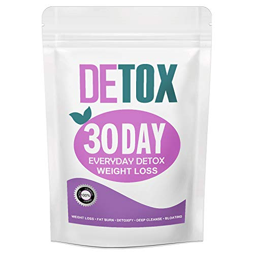 Detox Weight Loss Tea for Women, Gentle Detox Tea, 30 Day Skinny Tea for Slimming – Colon and Body Cleanse Detox Tea…
