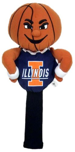 (College Licensed Golf Mascot Headcover - Illinois )