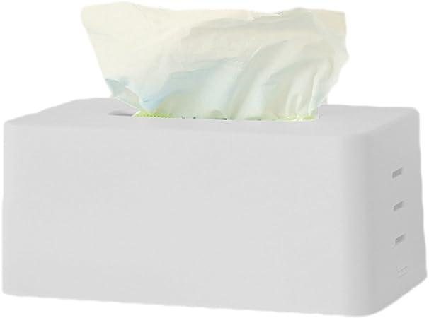 Laat caja de pañuelos rectangular de plástico soporte dispensador ...
