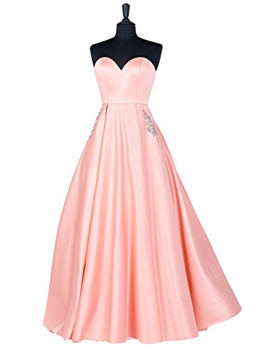 13127c2e3d7 2018 Evening Dresses Plus Size Empire Waist Strapless Bodycon Manual Beaded  Formal Gowns With Pockets Full Length Elegant Sweetheart Prom Dress YP813  Pink ...