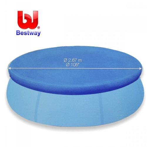 Bestway Poolabdeckung 244cm PE rund blau Abdeckplane Abdeckung Pool Poolplane